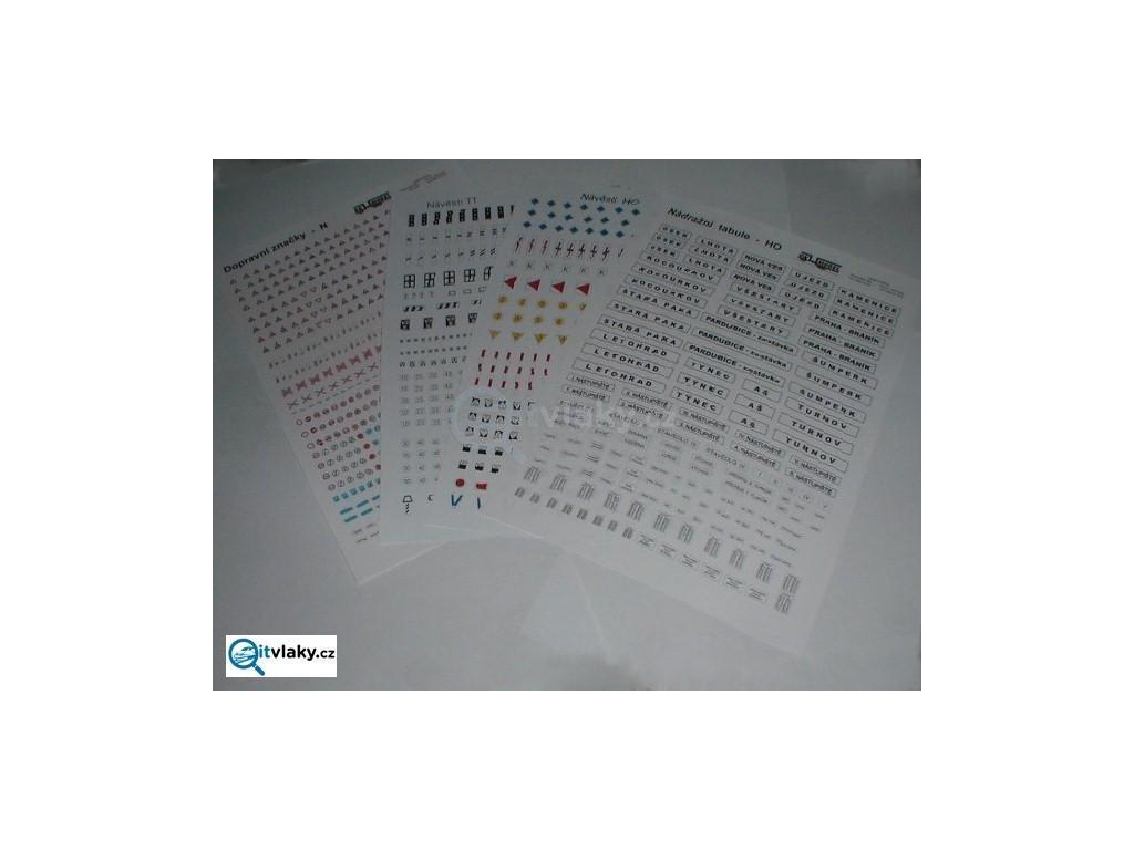 H0 - Dopravní značky na papíře / H00953 DKM