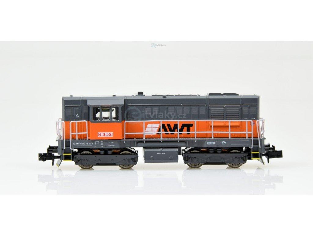 N - dieselová lokomotiva 740 303 AWT KOCOUR / MTB 740303