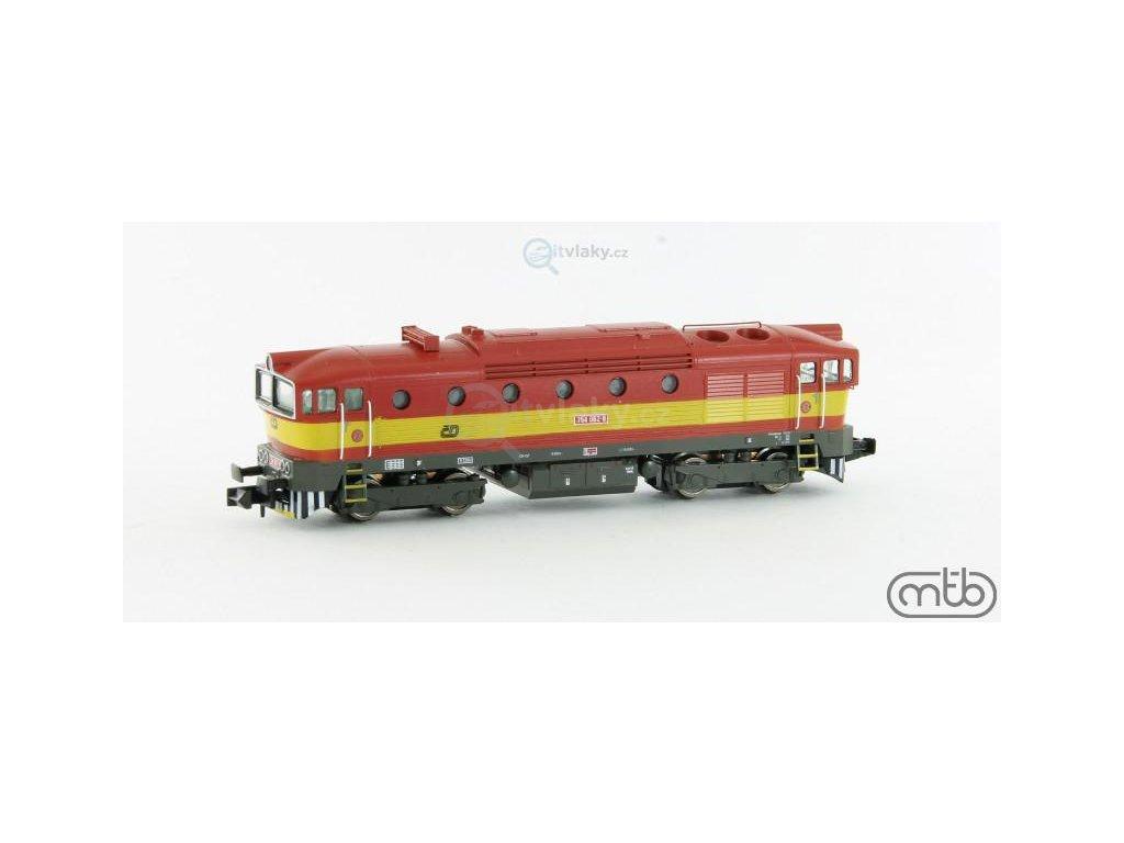 N - Dieselová lokomotiva Brejlovec 754 062, ČD / MTB