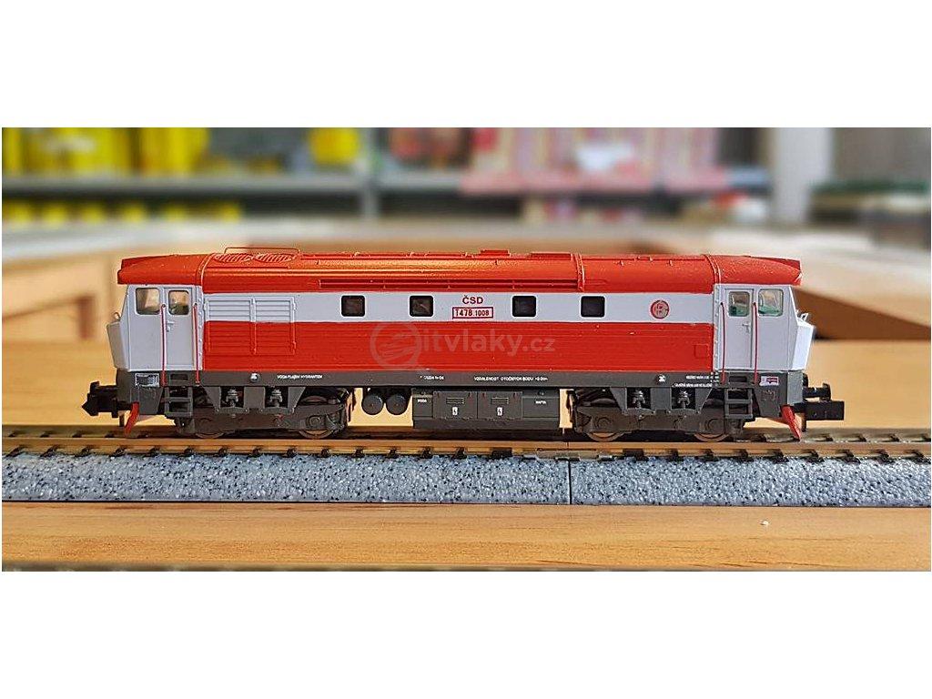 N - lokomotiva Bardotka T478 1008, ČSD / MTB 4781008