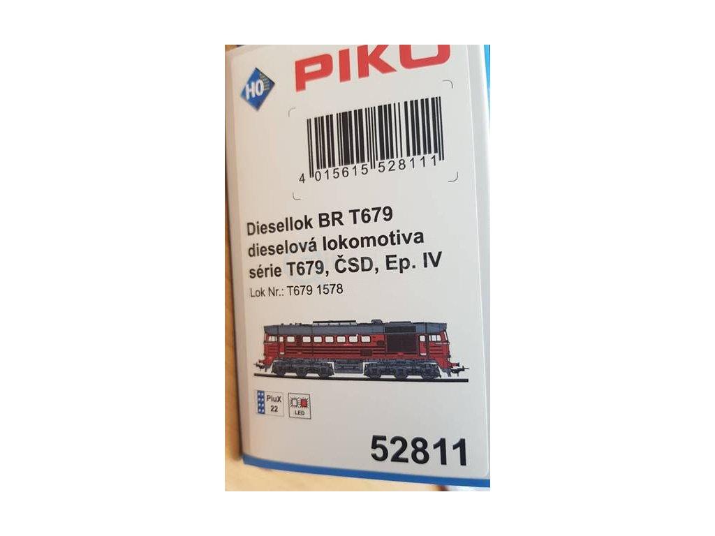 H0 - dieselová lokomotiva T679 ČSD Sergej / PIKO 52811