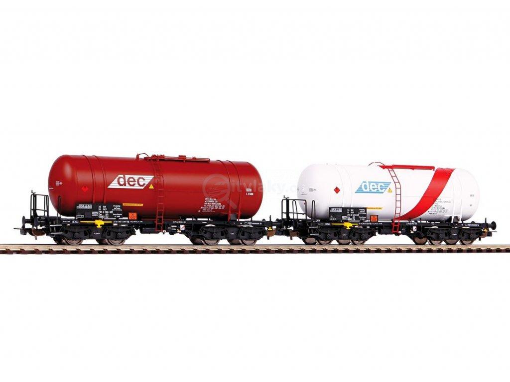 H0 - 2-dílný set cisternových vozů Zas (406R), PKP / PIKO 58370