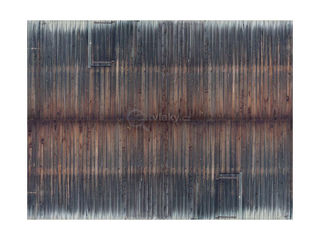3D zdivo - stará dřevěná stěna / NOCH 56665