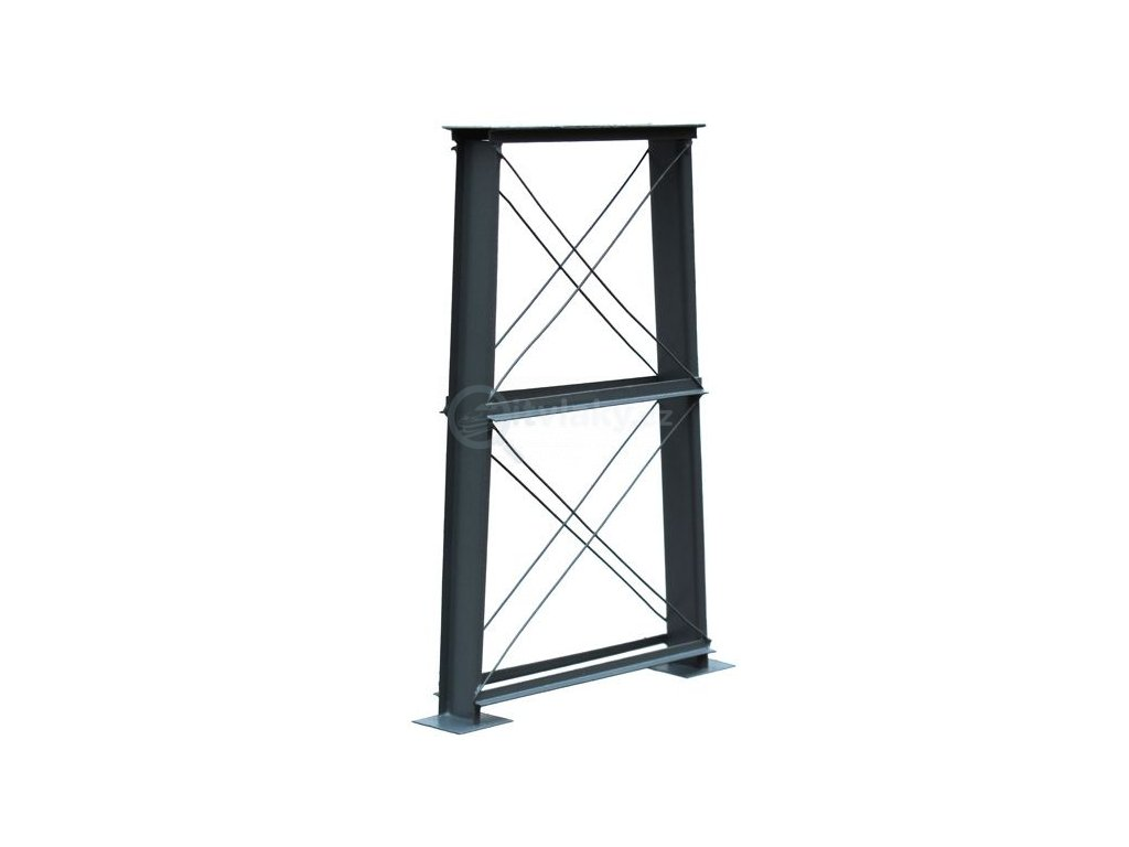 H0 - Mostní pilíř z kovu šedý, 120 mm/ Hulacki 300
