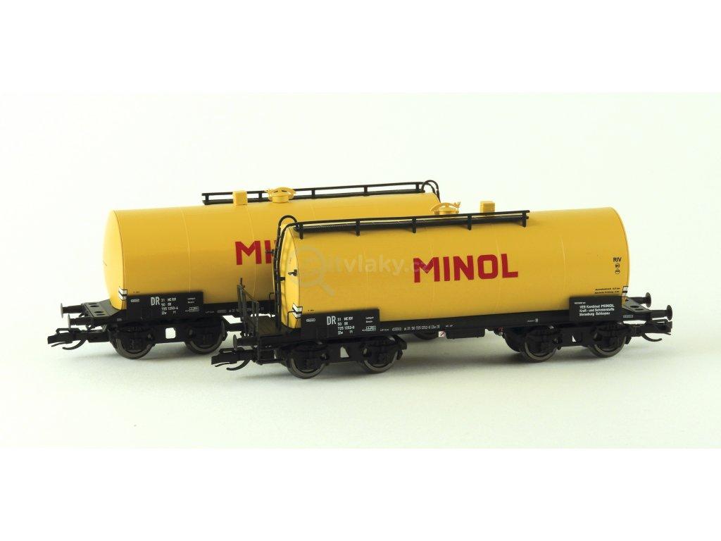 TT - set dvou kotlových vozů Uerdinger, žlutá MINOL / KUEHN 51520