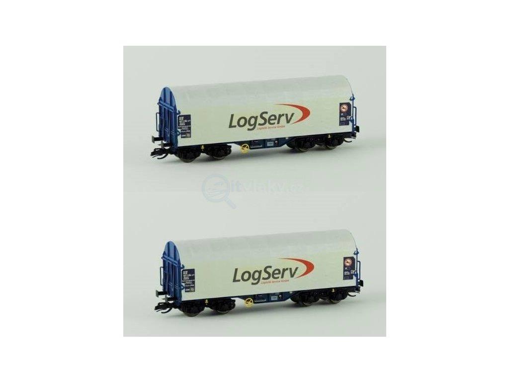 """TT - set 2 plachtových vozů """"LogServ"""" / KUEHN 51136"""