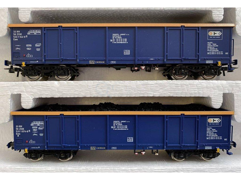 H0 - set dvou nákladních vozů s uhlím, ZSSK / Roco 76086