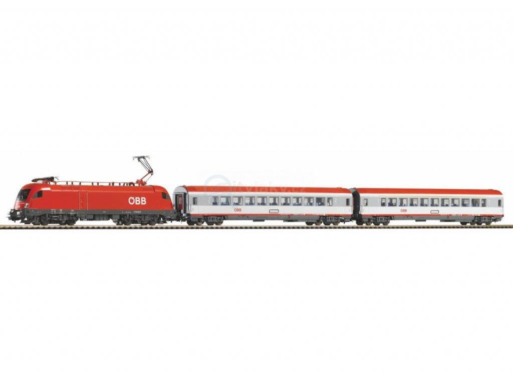 SLEVA! H0 - DCC Start set  - osobní vlak s lokomotivou Rh 1116 ÖBB / PIKO 59026