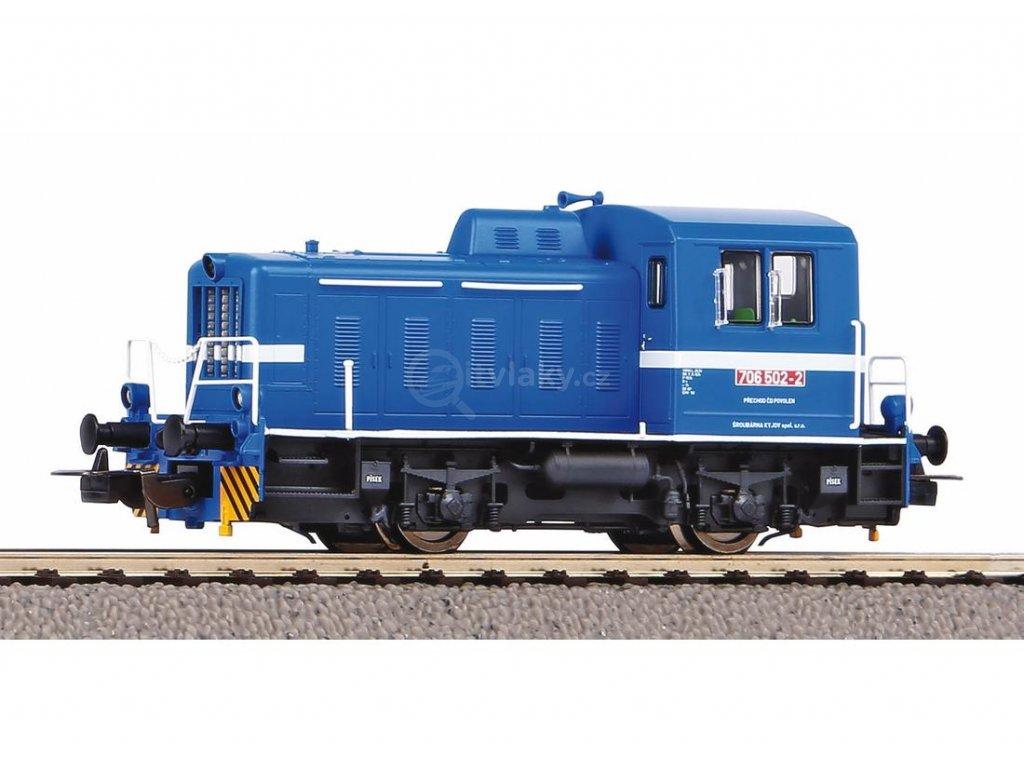 "H0 - dieselová lokomotiva T203 ""KALUGA"" ČD modrá, TGK2 / PIKO 52746"
