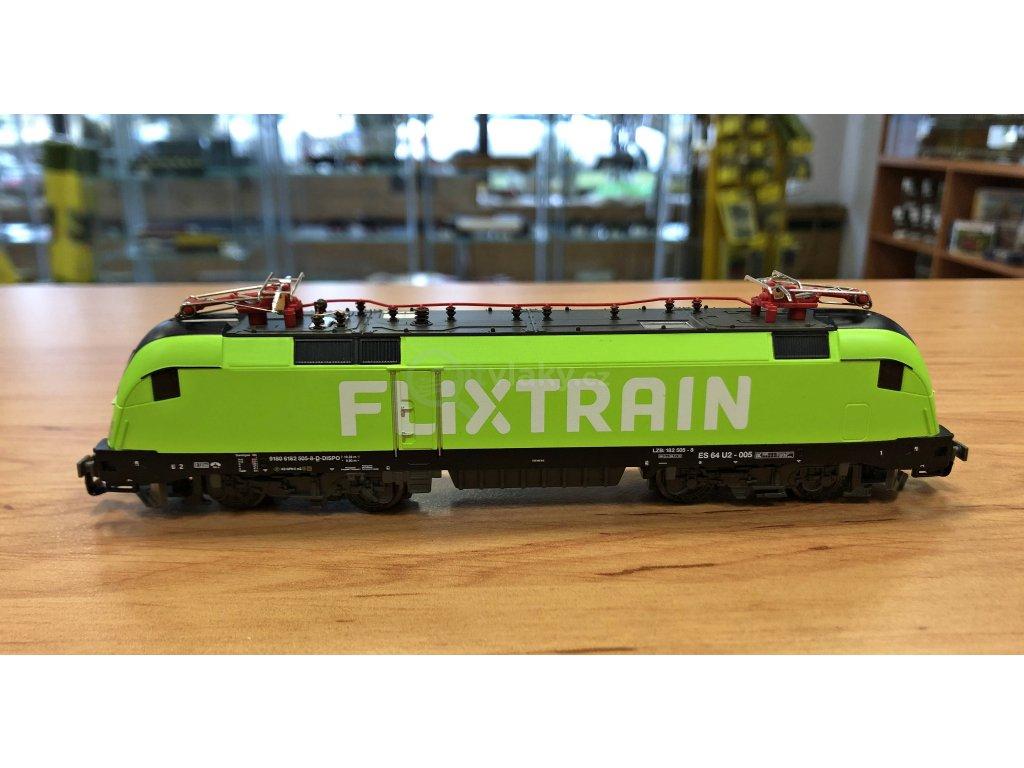 TT - elektrická lokomotiva ř. 182 Taurus Flixtrain / PIKO 47436