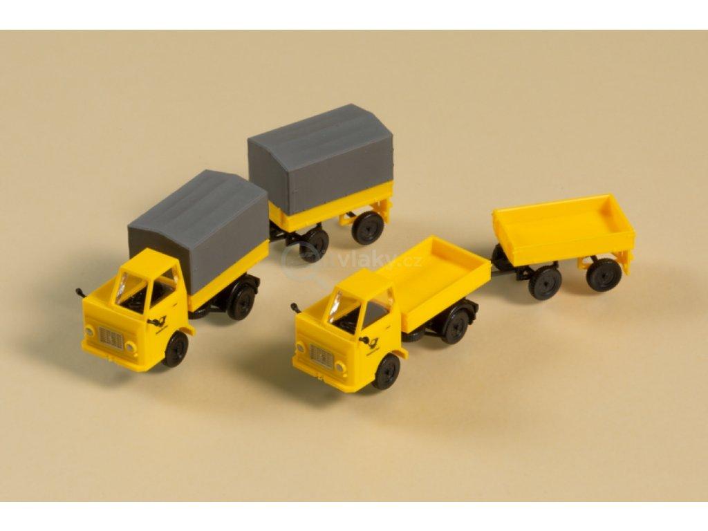 TT - souprava Multikára M22 s přívěsem, poštovní  / Auhagen 43662