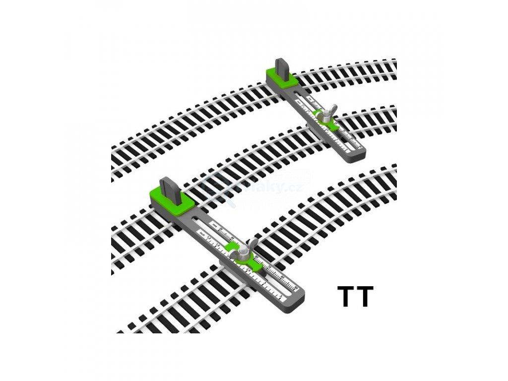 TT - držáky flexikolejí pro pokládání paralelní tratě, nastavitelné / Proses PPT-TT-01
