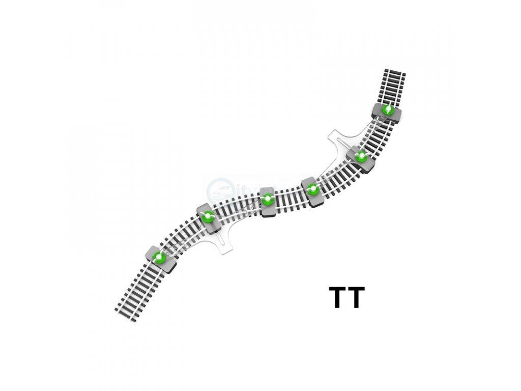 TT - držák flexikolejí pro zafixování při pokládání / Proses PFT-TT-01