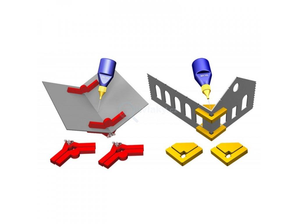 Set pomůcek k lepení staveb Snap & Glue ( 2x PPR-SS-04 + 2x PPR-SS-01 ) / Proses PPR-SS-05