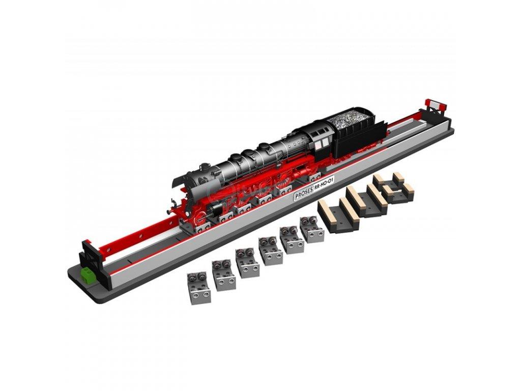 H0 - základna na čištění koleček lokomotiv 500 mm / Proses PRR-HO-01