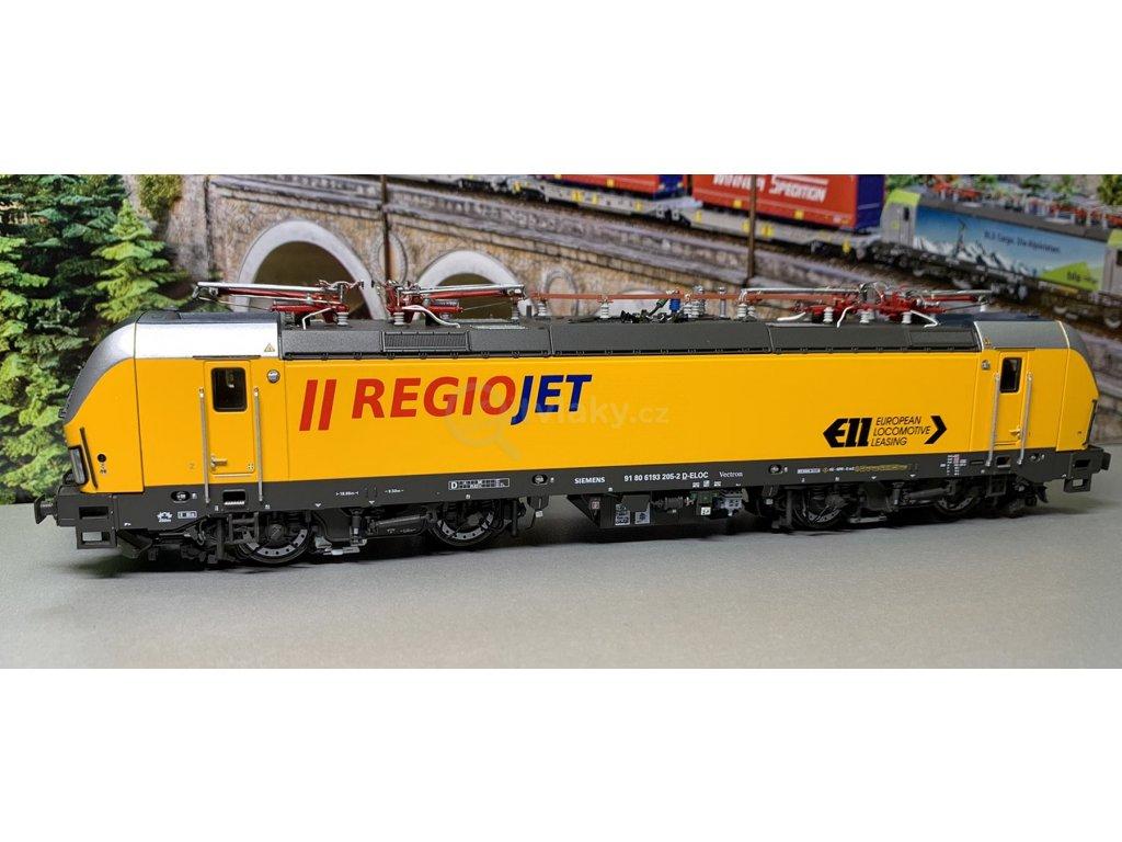H0 - lokomotiva Vectron RegioJet a 2 osobní vozy / LS Models 18000