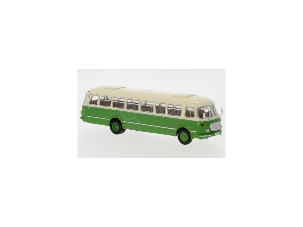 H0 - autobus JZS Jelcz 043 béžovo/zeleý Wismut 1960 / Brekina 58260