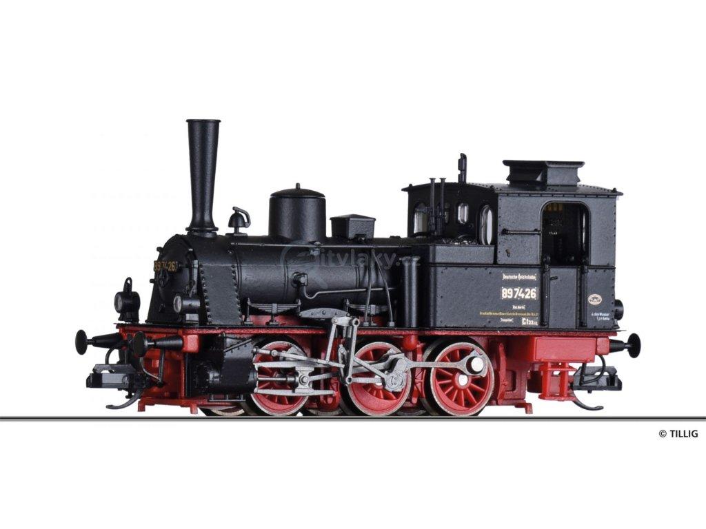TT - parní lokomotiva BR 89.70 DRG, Ep. II / TILLIG 04247