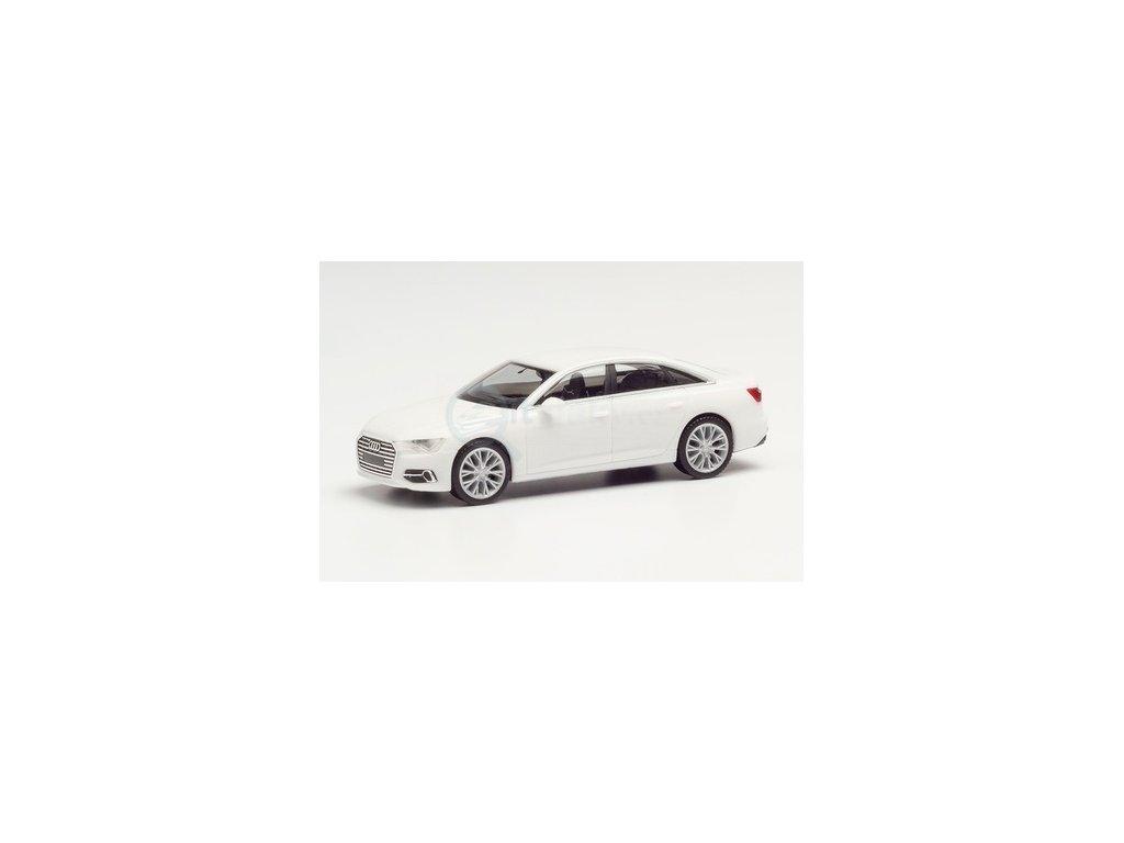 H0 - Audi A6 ® Limousine, bílá / Herpa 420297-002