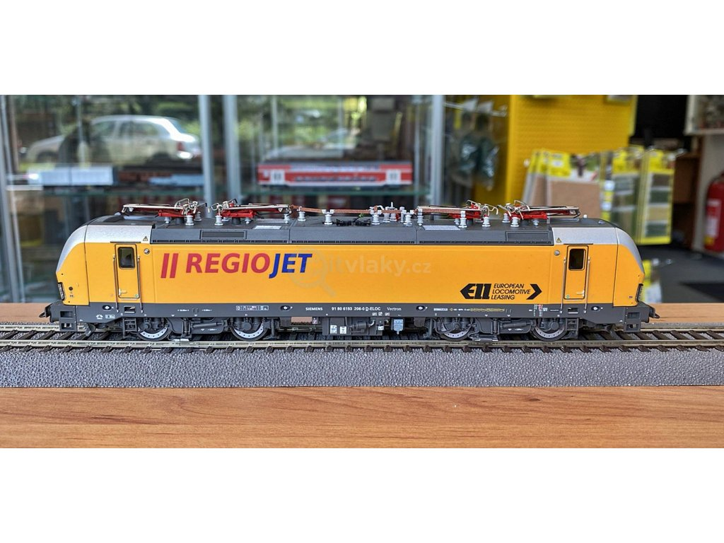 H0 - DCC/ZVUK elektrická lokomotiva řady 193 REGIOJET / ROCO 73217