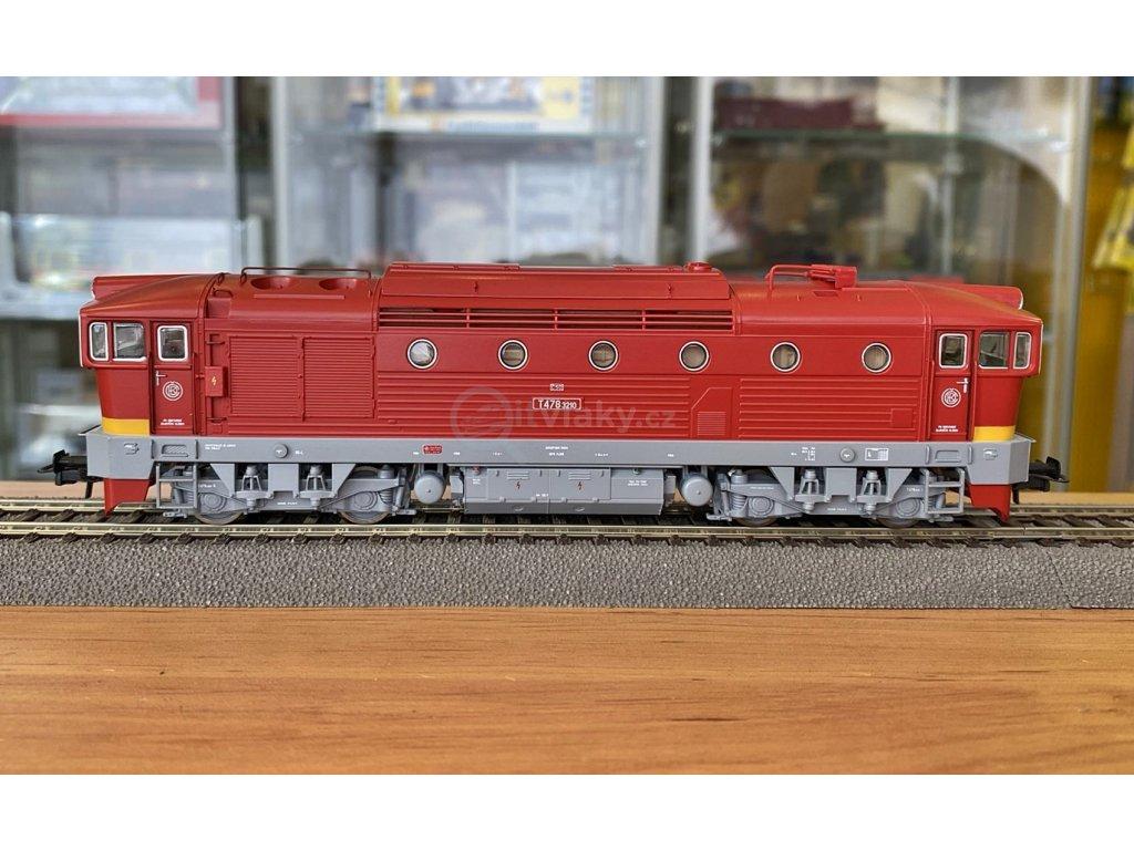 H0 - DCC/ZVUK Dieselová lokomotiva BREJLOVEC T478.3, ČSD / Roco 72947