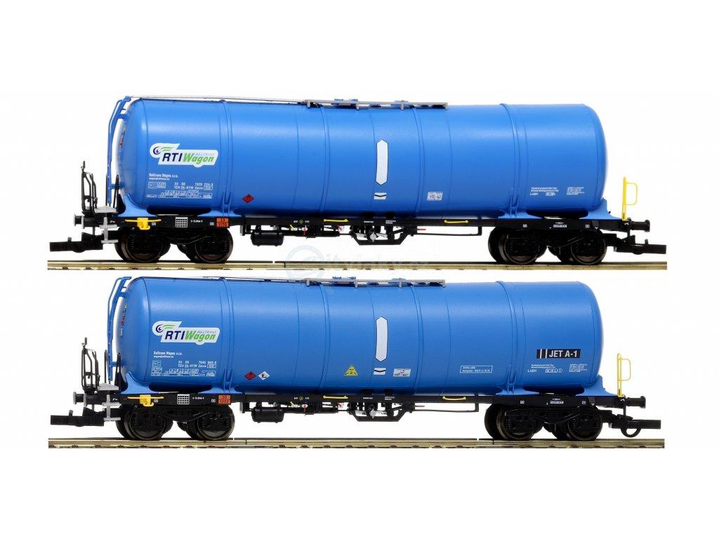 H0 - set 2 ks kotlových vozů Zacns 88 RTI + JET-A1 RTIWagon / IGRA MODEL 96210015
