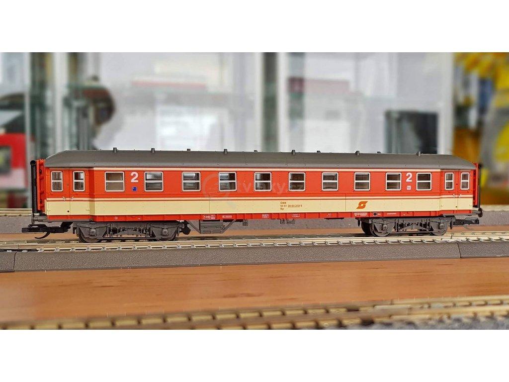 TT - rychlíkový vůz 2. třídy Bp  ÖBB, Ep. IV / TILLIG 13309