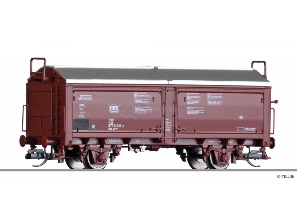 TT - vůz s posuvnou střechou Tims 858  DB, Ep. IV -nová forma- / TILLIG 17650