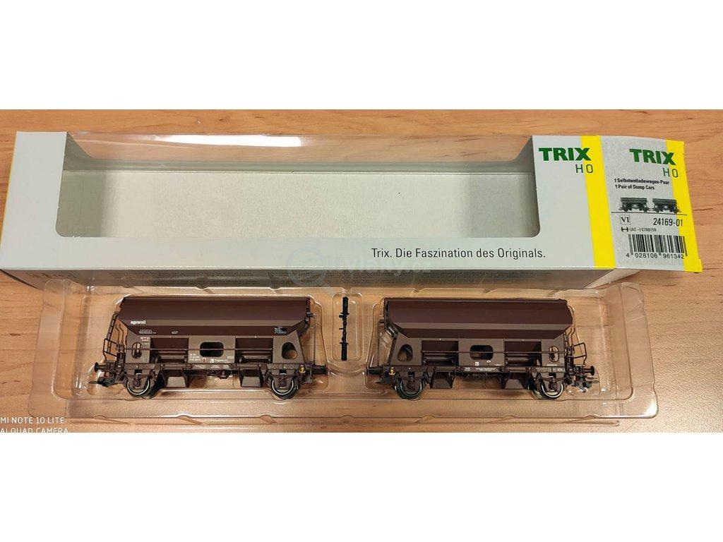 H0 - set 2 výsypných vozů Tds, AGRORAIL  / TRIX 24169x2