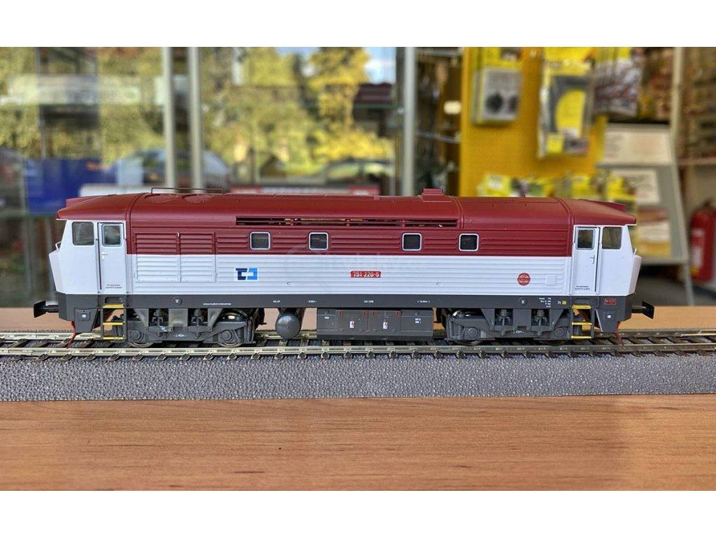 H0 - lokomotiva Bardotka ČD Cargo 751 220 / MTB 751220