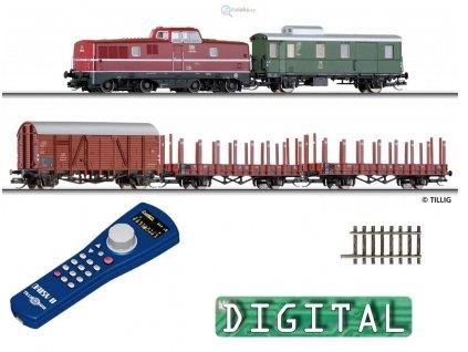 TT - DCC Start set V80 a 4 vozy, Daisy , ovál, el.výhybka/ TILLIG 01207