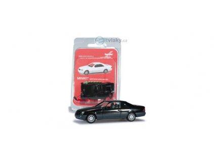 H0 - Mercedes-Benz 600 SEC, černá / Herpa 012676-002