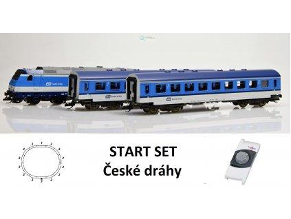 TT - START SET lokomotiva TRAXX +  osobní vozy ČD  / Tillig 01442