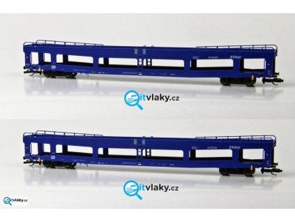 TT - Set dvou vozů DDm pro přepravu automobilů  ČD / Tillig 01641