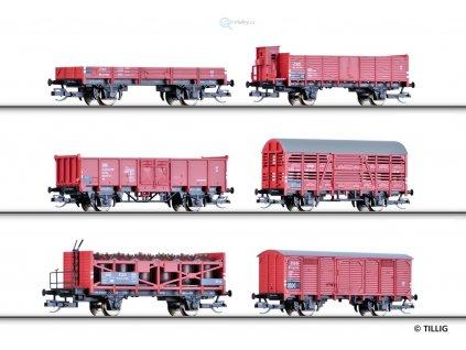 TT - Set 6ks nákladní vozů mix, ČSD, III. epocha / Tillig 01645