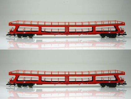 TT - set dvou vozů ČD DDm 915 pro přepravu automobilů / Tillig 01670