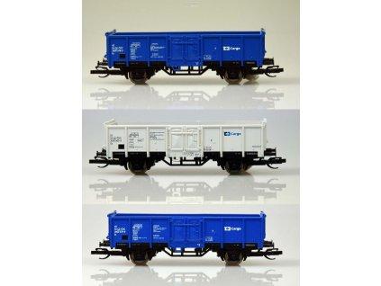 TT - 3-dílný set otevřených nákladních vozů Es, ČD / TILLIG 01716