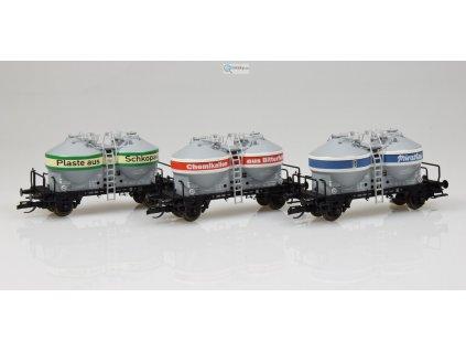 TT - 3-dílný set nákladních vozů na přepravu prachu Ucs, DR / TILLIG 01732 E