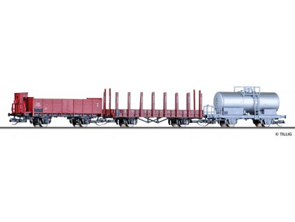TT - set 3 nákladních vozů ČSD, PKP, SBB / Tillig 01763