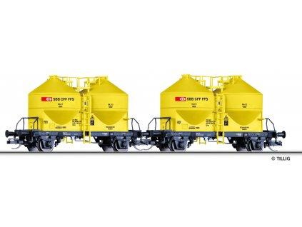 TT - set 2 vozů na přepravu prachu, SBB / Tillig 01765