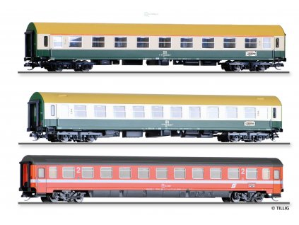 TT - set tří vozů expresu Vindobona - 2. část, DR/ÖBB/ Tillig 01777 E