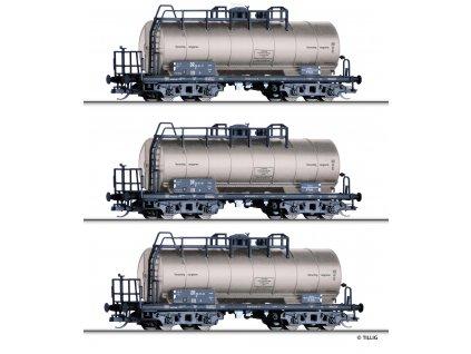 TT - 3- dílný set z cisternových vozů ZZ 52, DR / Tillig 01793