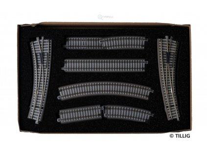 TT - rozšiřující set kolejiva Paralerní okruh - 1, velké nádraží / Tillig 01834