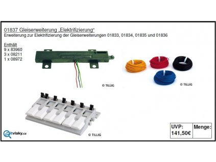 """TT - kolejový set """"elektrizace"""" / Tillig 01837"""