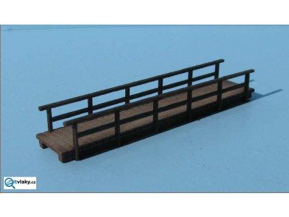 H0 - dřevěný most úzký, dlouhý / VERAMO H0 020103