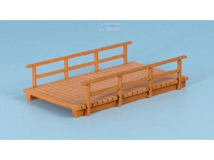 TT - Dřevěný most, široký, krátký - světlý / Veramo 020202