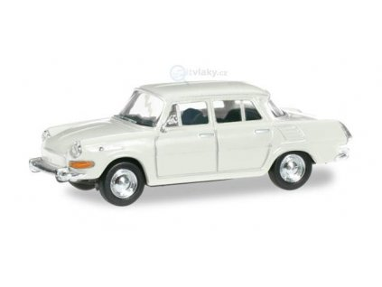 H0 - Škoda 1000 MB, bílá / Herpa 024716-004
