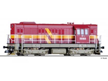 TT - Dieselová lokomotiva 742 ČD, Ep. V, Kocour / Tillig 02755
