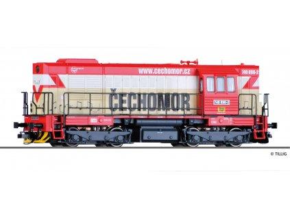 TT - lokomotiva 742 CZ ,,Čechomor,, KDS s.r.o. Kladno (Kocour) / Tillig 02758