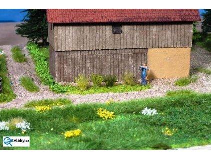 H0 - XL travní trsy - zelené / NOCH 07004